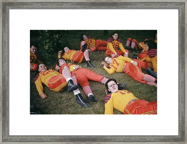 Womens Football Framed Print by Michael Ochs Archives