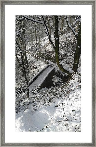 30/01/19  Rivington. Cascade Bridge. Framed Print