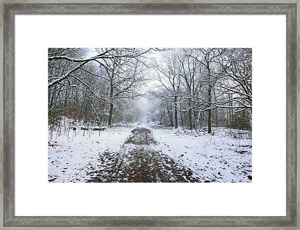 30/01/19  Rivington. Lower Barn. Arboretum Path. Framed Print