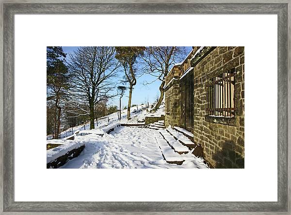 30/01/19  Rivington. Summerhouse In The Snow. Framed Print
