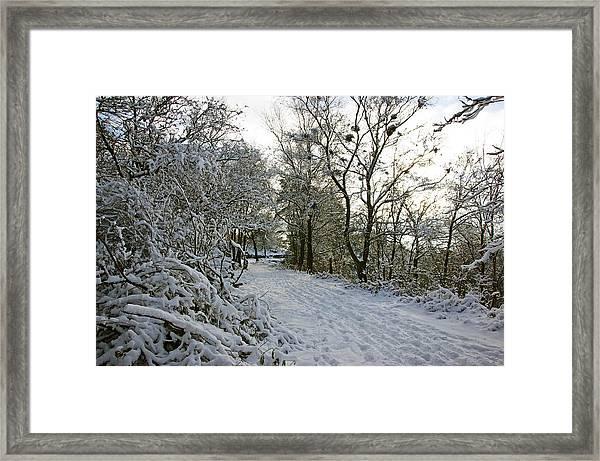 30/01/19  Rivington. Top Path Below The Pigeon Tower. Framed Print