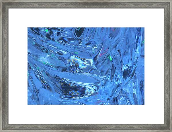 Patterns And Textures Of Ice Blocks Framed Print by Stuart Westmorland
