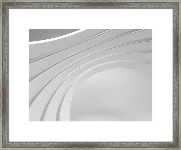 3d Abstract Architecture Background Framed Print