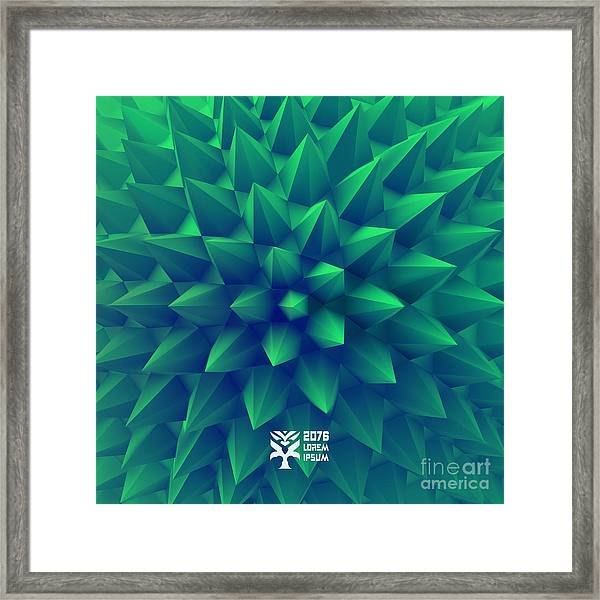 3d Abstract Background. Vector Framed Print