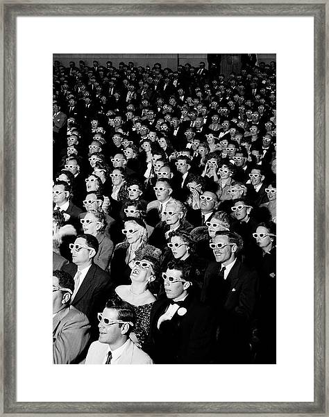 3d Film Audience Framed Print