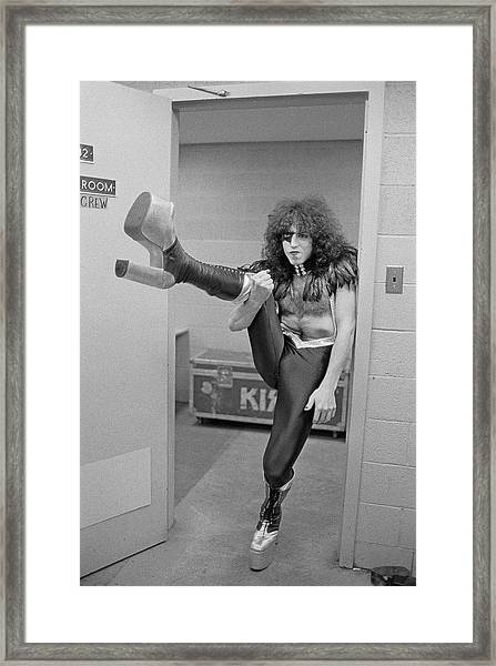 Kiss Alive Framed Print by Fin Costello