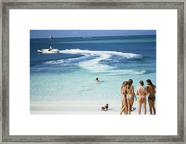 Lyford Cay Framed Print by Slim Aarons