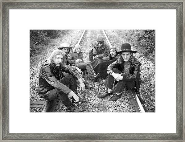 Photo Of Allman Brothers Framed Print