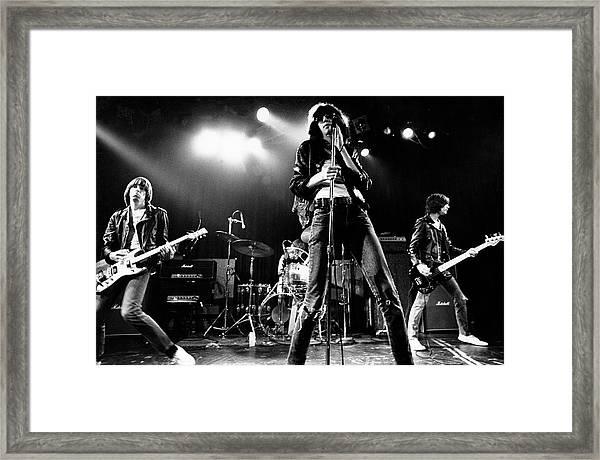 Photo Of Ramones Framed Print by Michael Ochs Archives