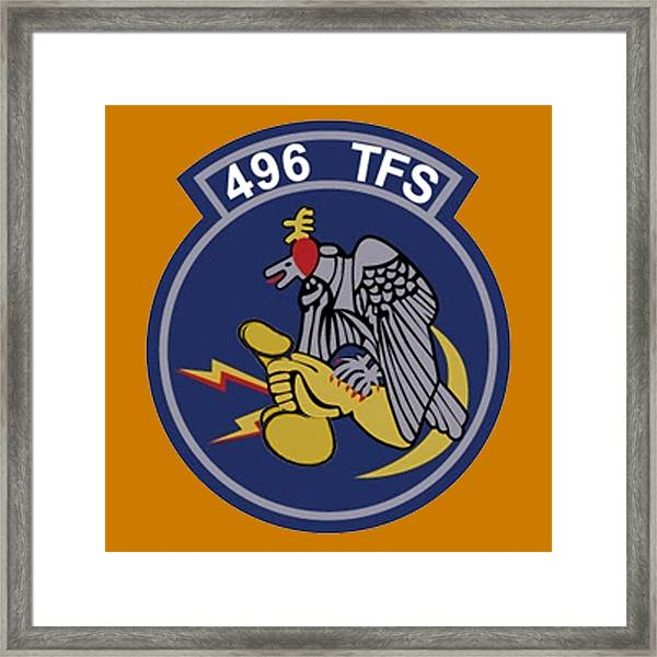 496th Tactical Fighter Squadron  Framed Print