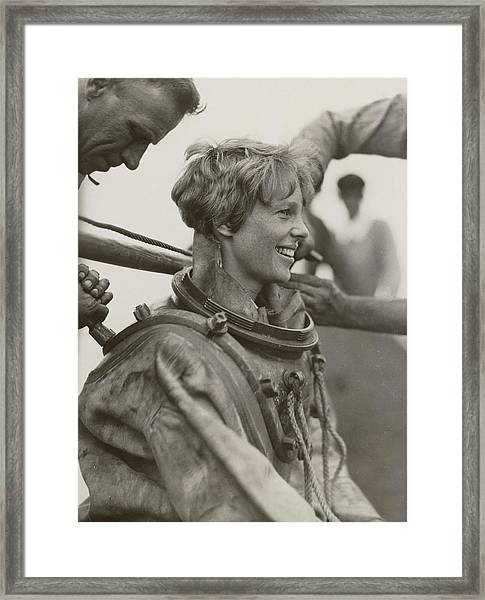 Amelia Earhart, American Aviatrix Framed Print by Science Source