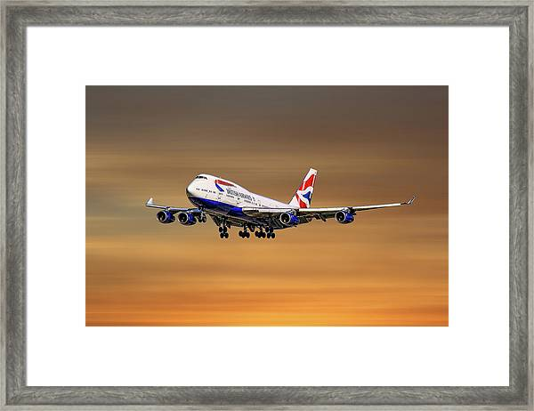 British Airways Boeing 747-400 Framed Print
