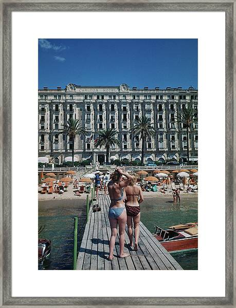 Cannes France Framed Print by Michael Ochs Archives
