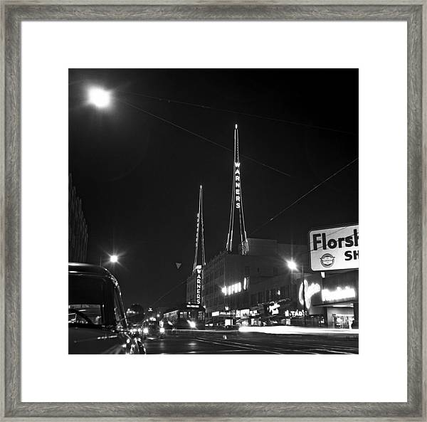 Los Angeles In The 1950s Framed Print