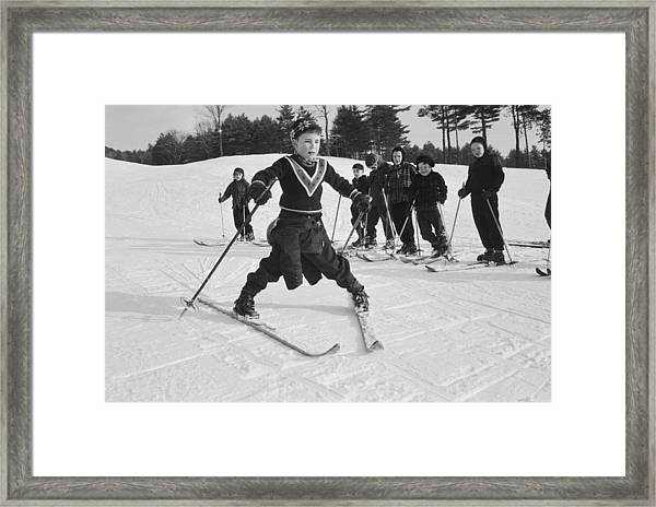 New England Skiing Framed Print