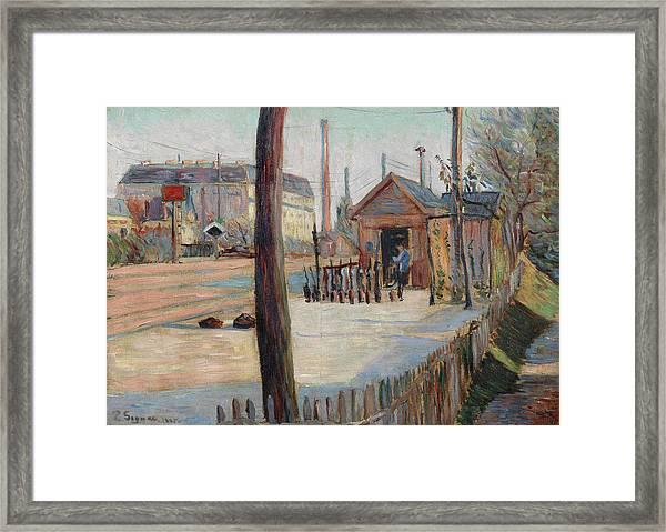Railway Junction Near Bois-colombes Framed Print