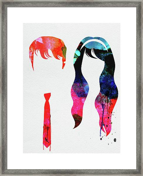 500 Days Of Summer Watercolor Framed Print