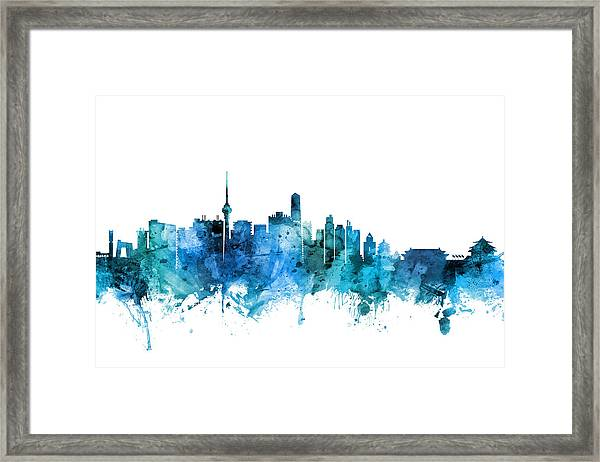 Beijing China Skyline Framed Print