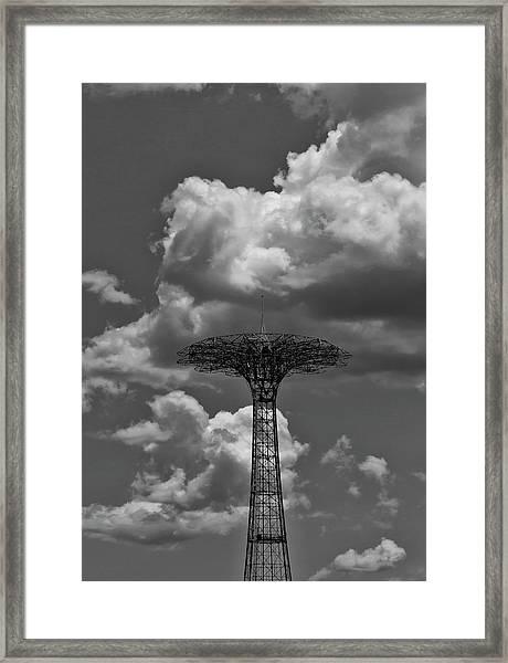 Coney Island Parachute Jump Framed Print