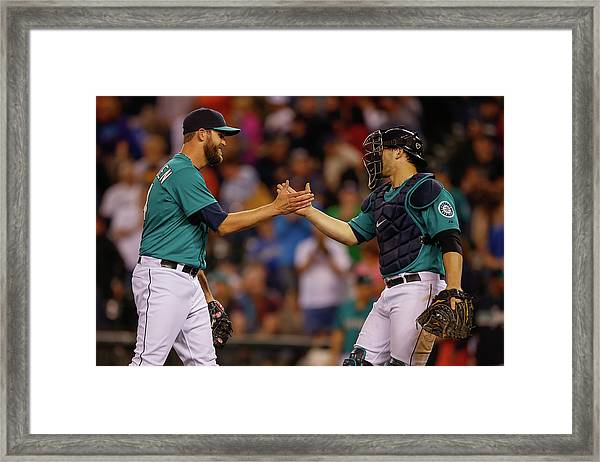 Boston Red Sox V Seattle Mariners Framed Print