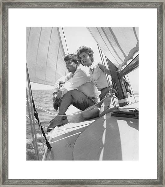 Senator Kennedy Goes A Courting Framed Print