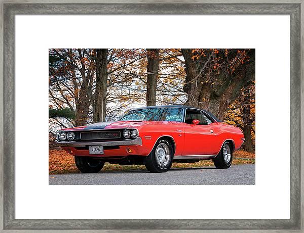 70 Dodge Challenger Rt - Driver Side Framed Print