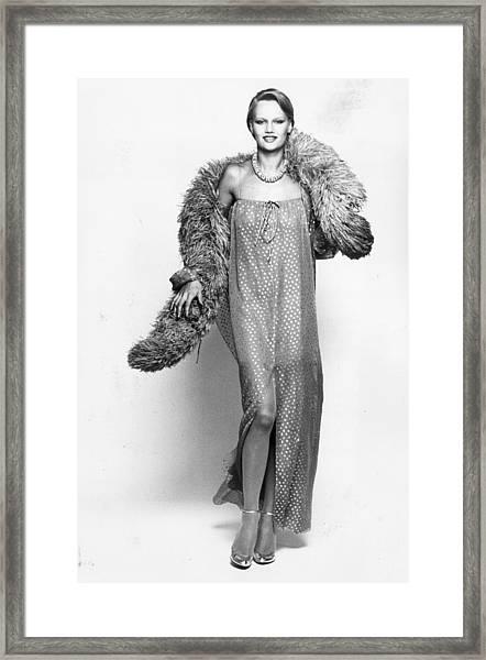 70s Chic Framed Print