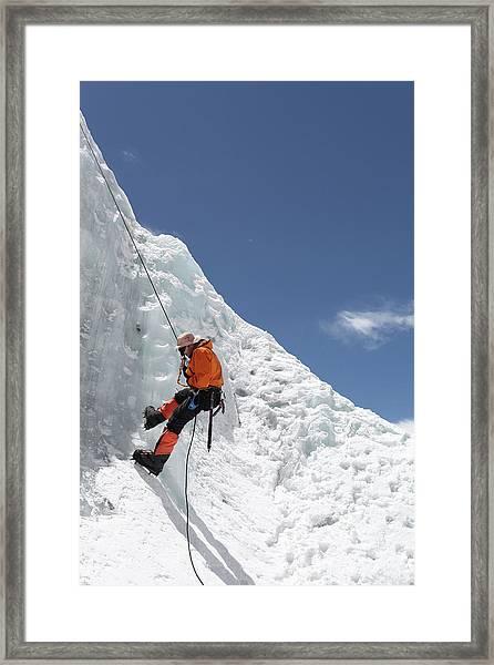Climbing Mt. Everest Framed Print