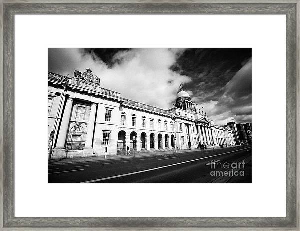 The Custom House Custom House Quay Dublin Republic Of Ireland Framed Print by Joe Fox