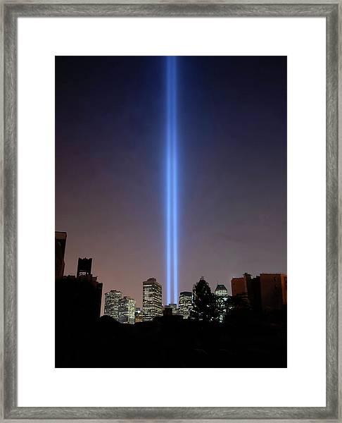 911 Light Memorial Framed Print