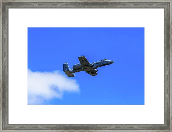 A-10c Thunderbolt II In Flight Framed Print
