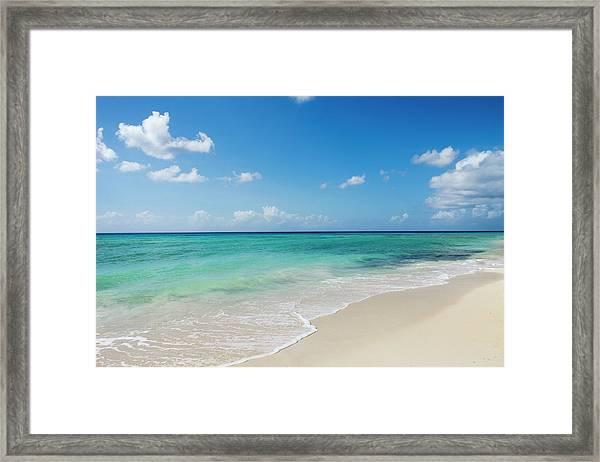 A Beautiful Caribbean Beach Framed Print