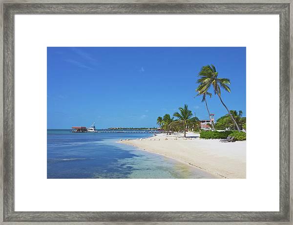 A Beautiful Scene Of A Beach Resort On Framed Print by Hendrikdb
