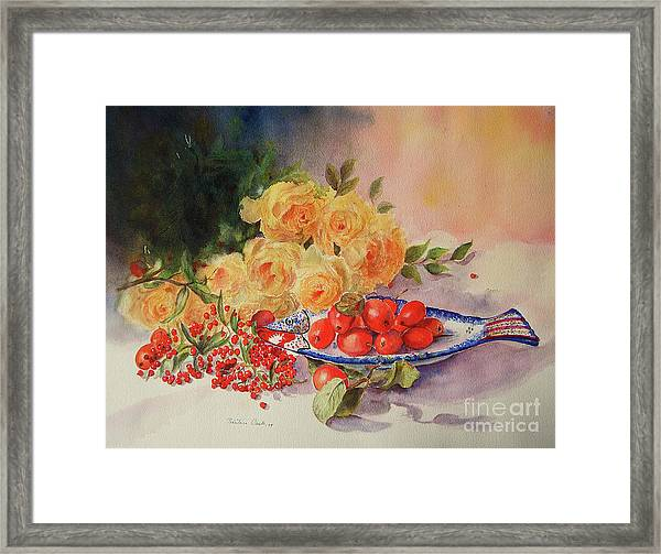 A Berry Or Two, Watercolour Still Life Framed Print