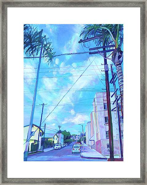 A Blue Day Framed Print