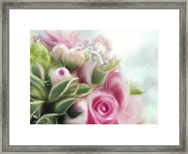A Bouquet Of Thankfulness Framed Print