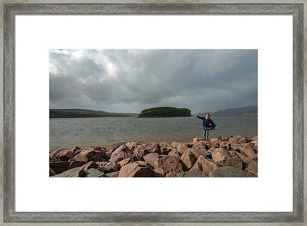 A Charming Little Girl In The Isle Of Skye 1 Framed Print