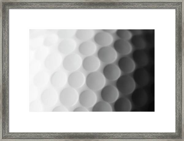 A Close Up Shot Of A Golf Ball, White Framed Print