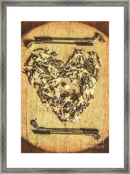 A Course For Romance Framed Print