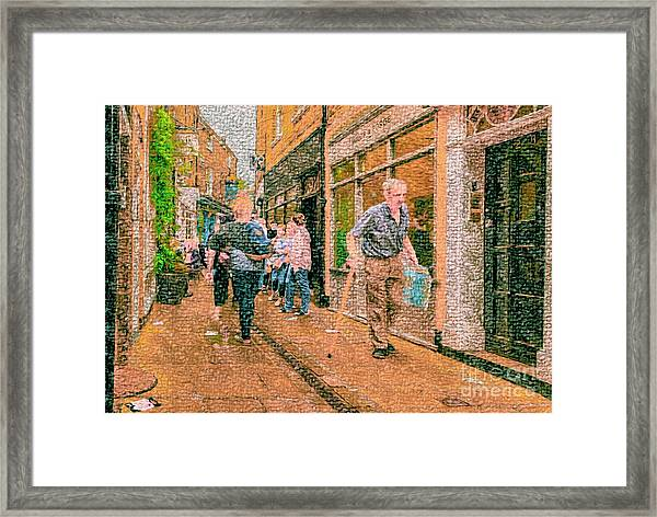 A Day At The Shops Framed Print