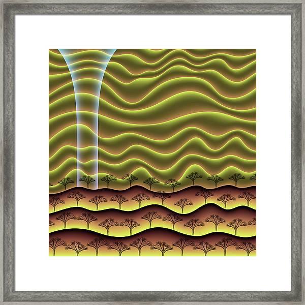 A Faint Glow On The Horizon Framed Print