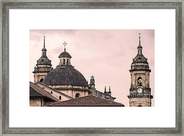 A Famous Cathedral In Bogota, Colombia Framed Print