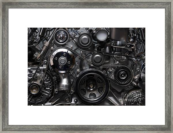 A Fragment Of The Engine Framed Print