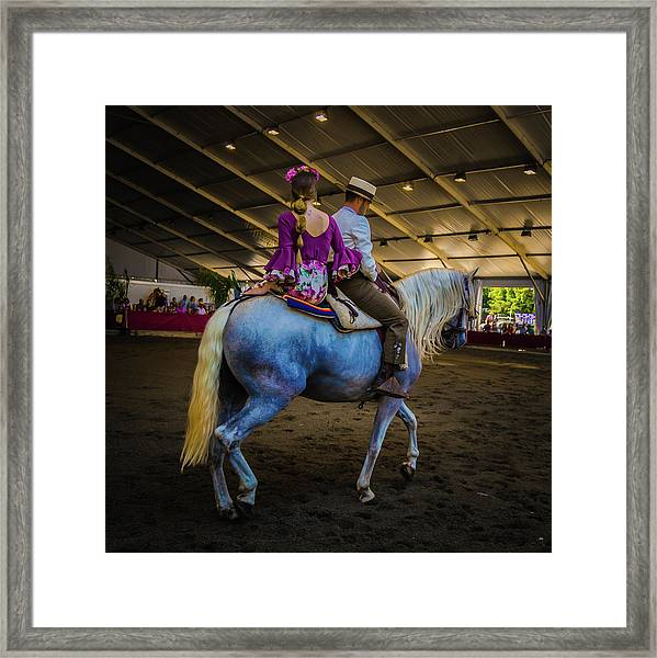 A Girl, A Boy And A Horse Framed Print