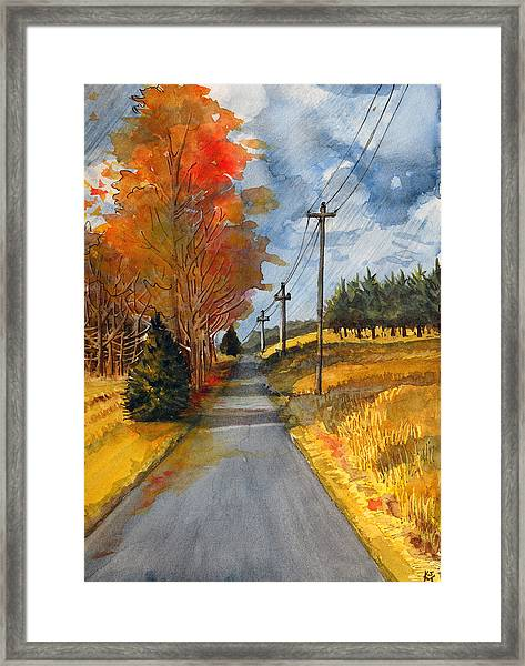 A Happy Autumn Day Framed Print