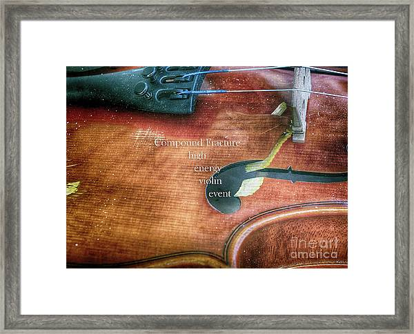 A High Engery Violin Event  Framed Print by Steven Digman