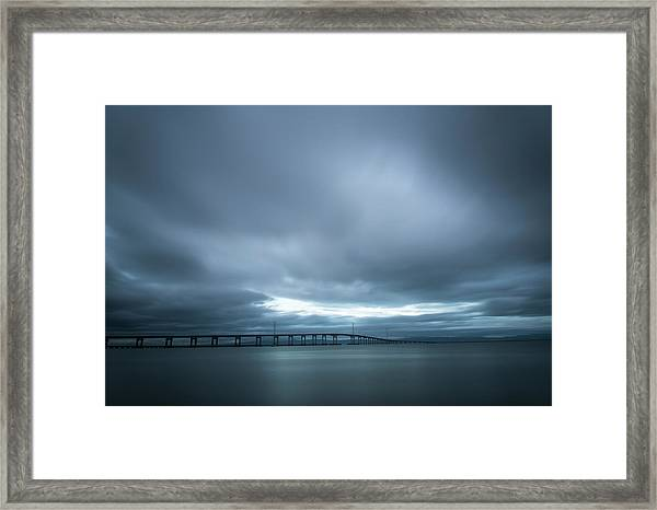 A Hole In The Sky Framed Print