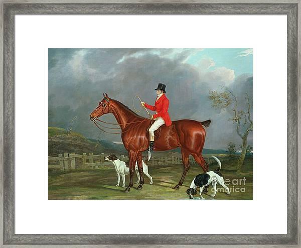 A Huntsman And Hounds, 1824  Framed Print