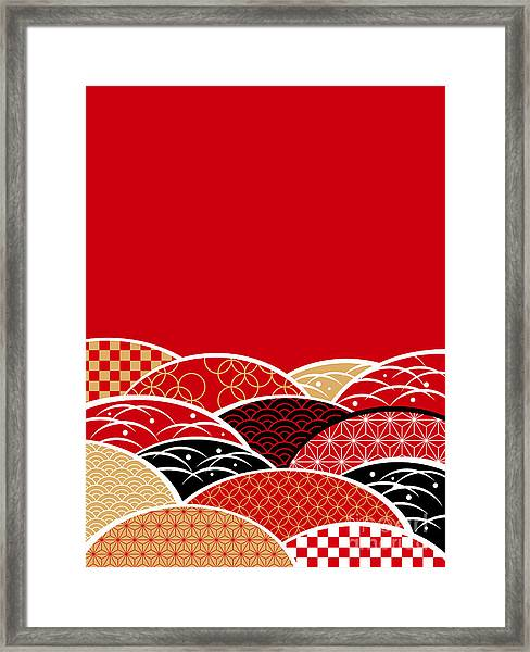 A Japanese Style Background Of Japan Framed Print by Rie Sakae