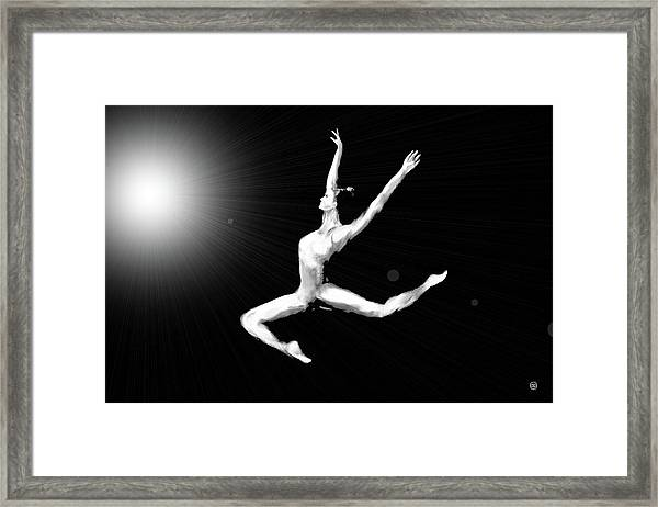 A Leap Into The Light Framed Print